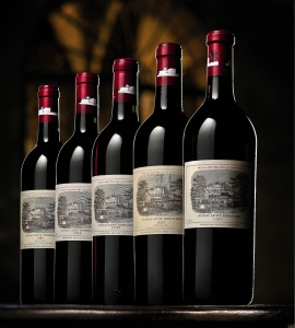 One of the three bottles of the 1869 vintage that sold for a record $HK 1.8 million each at Sotheby's Oct. 29 auction in Hong Kong of wines sourced directly from Chateau Lafite-Rothschild. Each was expected to fetch between HK$40,000 and HK$60,000. Source: Sotheby's via Bloomberg